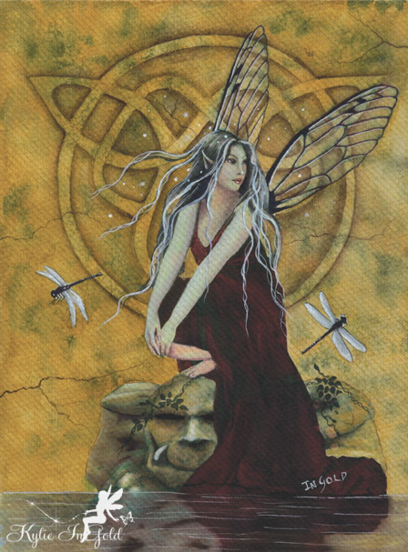 Willow Wisp fairy painting
