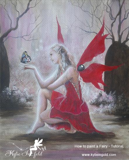 tutorial fairy painting